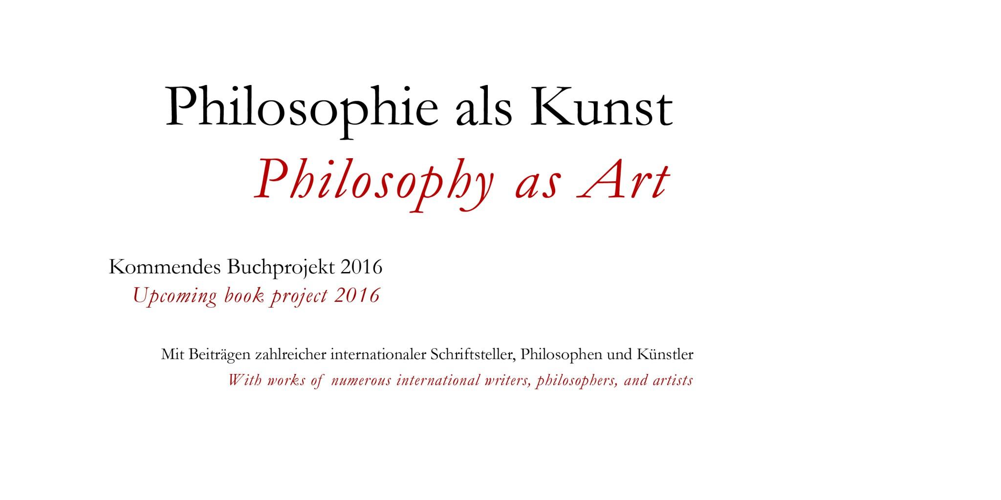 Banner Philosophie als Kunst von