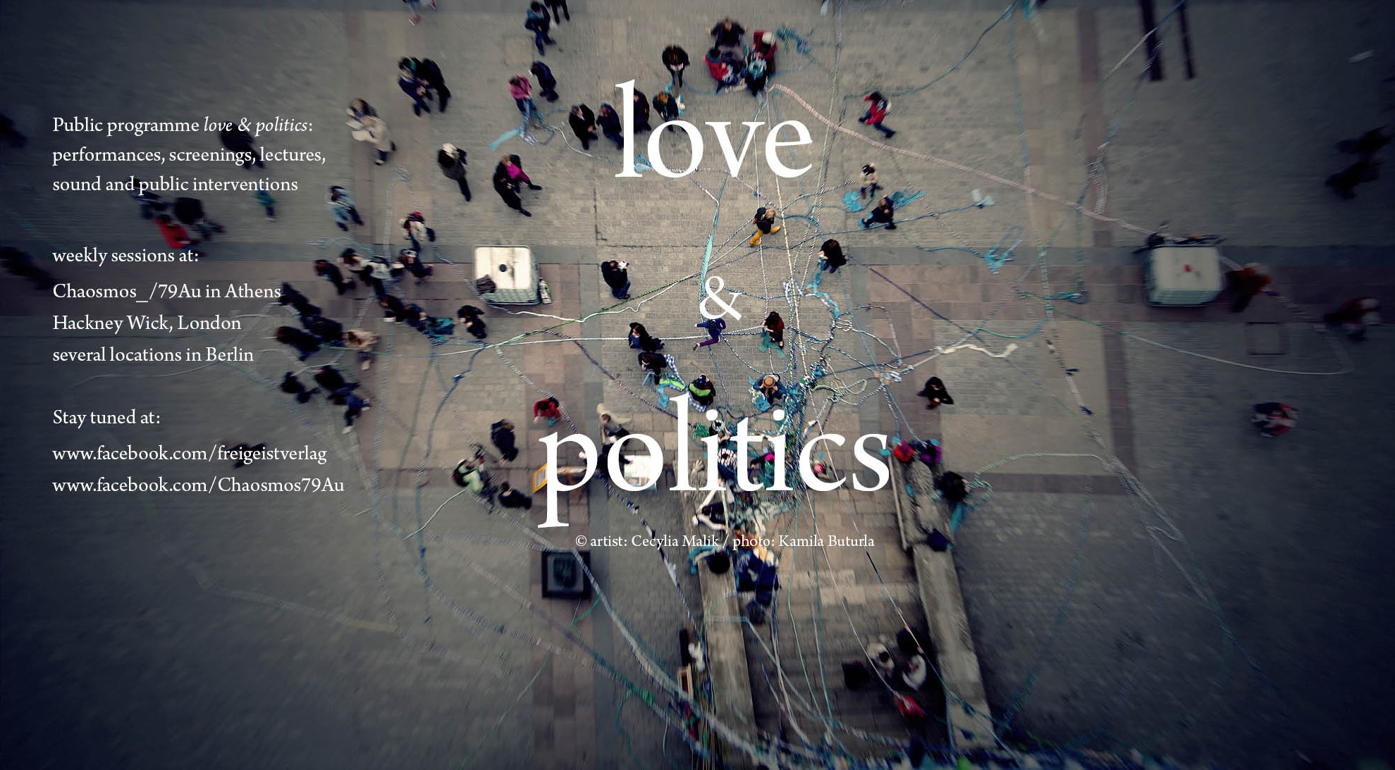 banner love and politics public program cut von