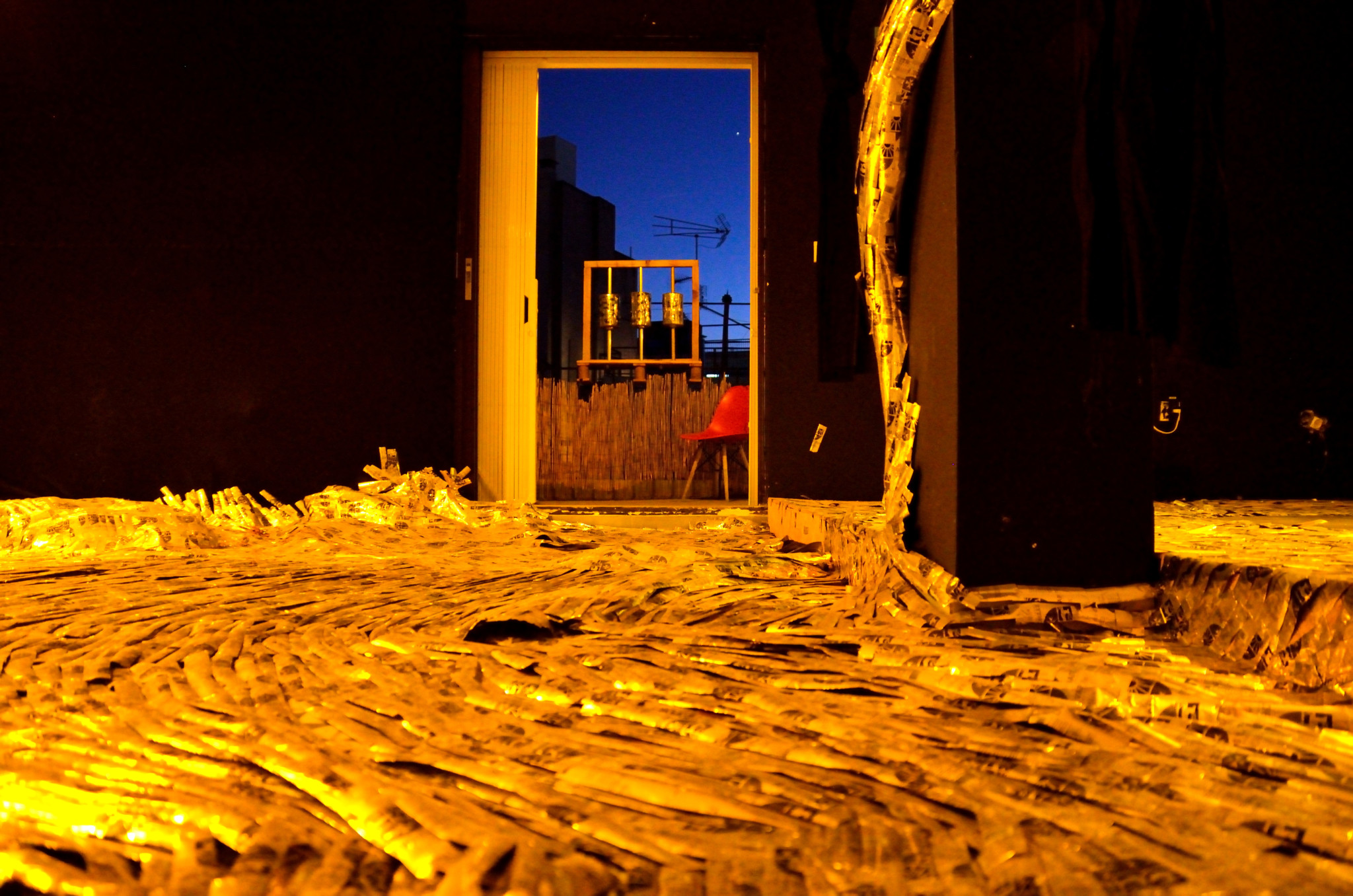 sound room, Trash Temple, 2019 by Vandaloop collective