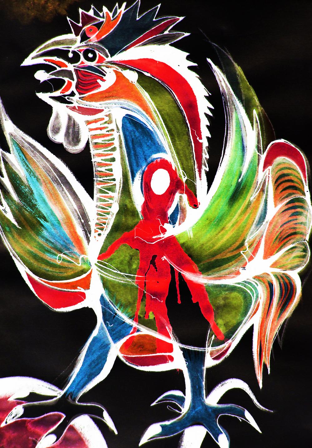 El Gallo Vulnerado von Orlando Valdivieso