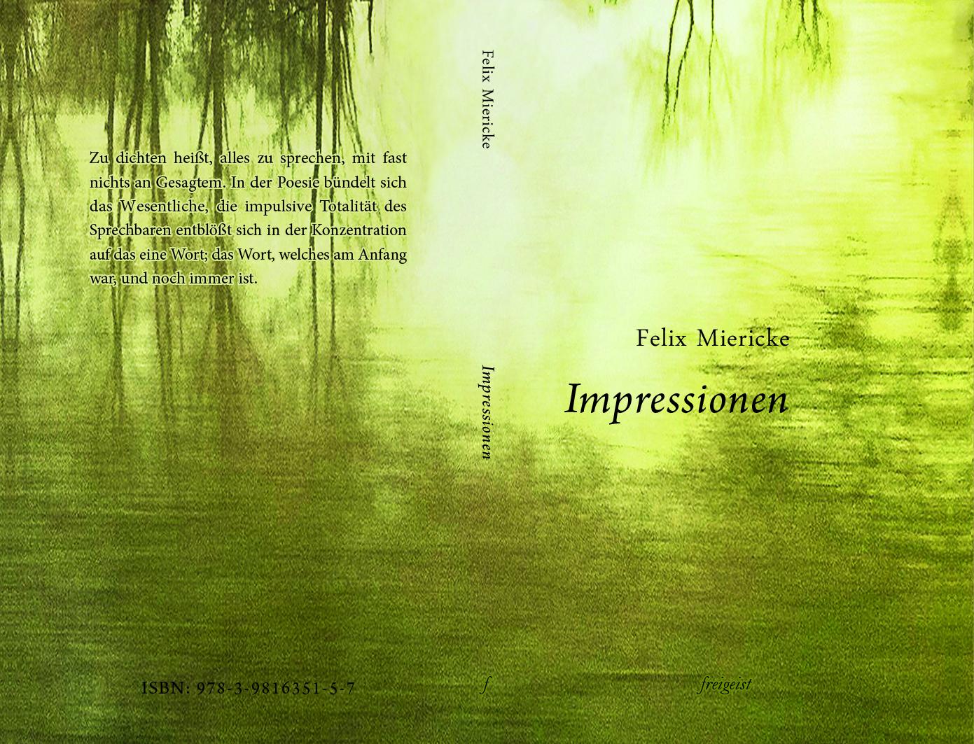 Impressionen Cover BoD von